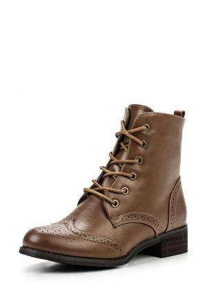Ботинки Moda GY. Цвет: коричневый