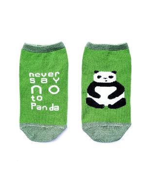 Носки укороченные Big Bang Socks. Цвет: салатовый