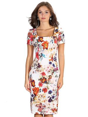 Платье OLIVEGREY. Цвет: белый, красный