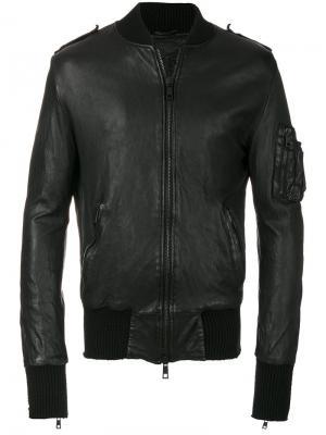 Куртка в стиле бомбера Giorgio Brato. Цвет: чёрный