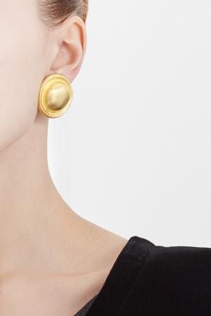 Позолоченные винтажные клипсы (90-е) Givenchy Vintage. Цвет: золотой