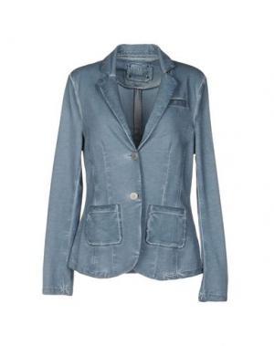 Пиджак OUÍ. Цвет: грифельно-синий