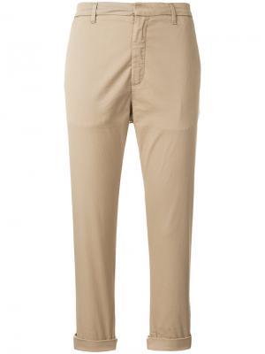 Укороченные брюки чинос Hope. Цвет: телесный