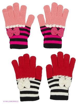 Перчатки FOMAS. Цвет: розовый, белый, черный, красный