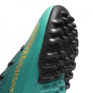 Футбольные бутсы для игры на газоне дошкольников  Jr. MercurialX Vapor XII Academy CR7 Nike. Цвет: зеленый