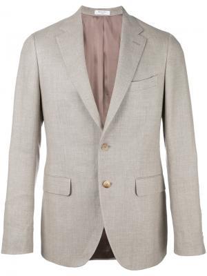 Пиджак с карманами клапанами Boglioli. Цвет: коричневый