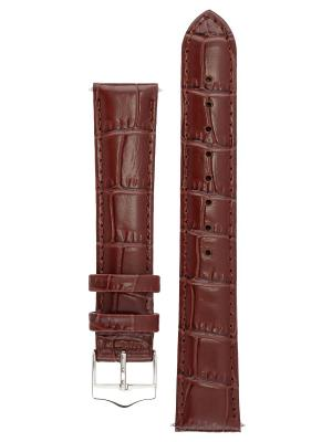 Элегантный ремешок для часов из кожи теленка с фактурой под аллигатора. Ширина от 14 до 24 мм. Signature. Цвет: темно-коричневый