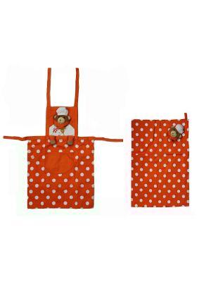 Комплект ZLATA KORUNKA. Цвет: оранжевый, белый