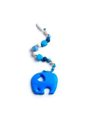 Игрушка-подвеска MamSi. Цвет: голубой, бежевый, синий