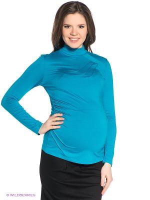 Водолазка для беременных ФЭСТ. Цвет: голубой