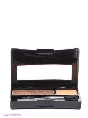 Пудровые тени-дуэт для век Насыщенный цвет Yves Rocher. Цвет: коричневый, золотистый