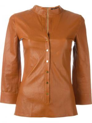 Приталенная рубашка Jitrois. Цвет: коричневый
