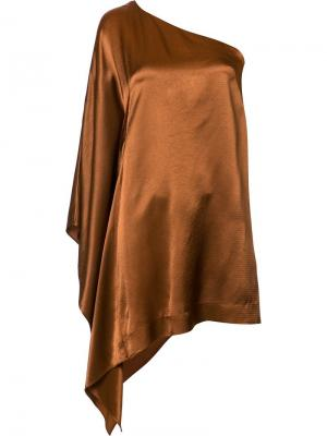 Платье на одно плечо Rosetta Getty. Цвет: металлический