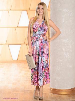 Платье МадаМ Т. Цвет: розовый, голубой