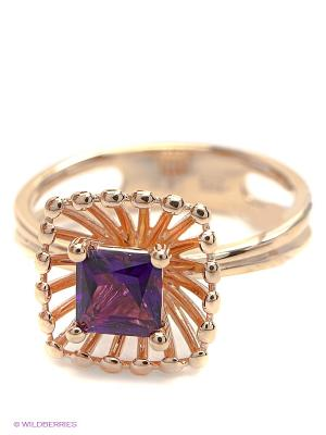 Кольцо ЭСТЕТ. Цвет: фиолетовый, золотистый