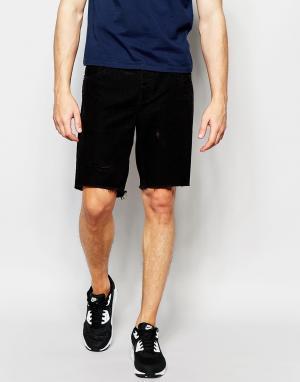 Afends Черные джинсовые шорты
