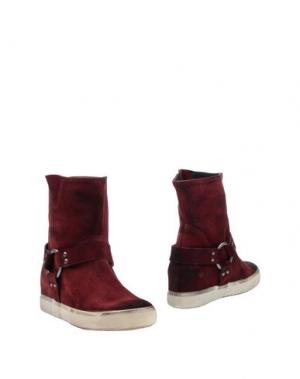Полусапоги и высокие ботинки PAUSE. Цвет: красно-коричневый