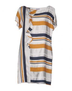 Короткое платье LA FABBRICA del LINO. Цвет: хаки