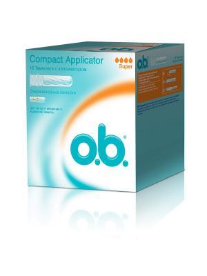 Тампоны Compact Applicator супер 16шт o.b.. Цвет: белый