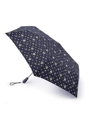 L711-3381 SpottyFlower (Цветы и горошек) Зонт женский автомат Fulton, Fulton. Цвет: синий