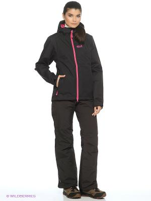 Куртка CHILLY MORNING WOMEN Jack Wolfskin. Цвет: черный