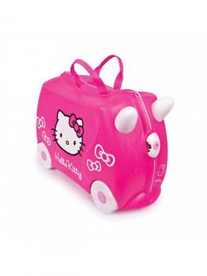 Чемодан на колесиках розовый Hello Kitty TRUNKI. Цвет: розовый, белый