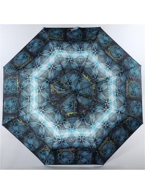 Зонт Trust. Цвет: морская волна, белый, черный