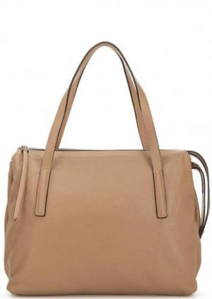 Кожаная сумка с двумя отделами и длинными ручками Gianni Chiarini. Цвет: коричневый