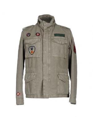 Куртка VINTAGE 55. Цвет: зеленый-милитари