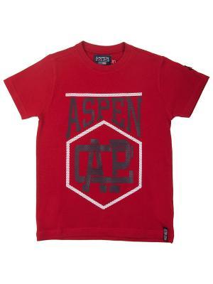 Футболка Aspen Polo Club. Цвет: красный