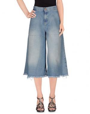 Джинсовые брюки-капри OFF WHITE c/o VIRGIL ABLOH. Цвет: синий