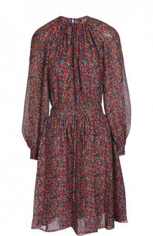 Платье с поясом Derek Lam. Цвет: фиолетовый
