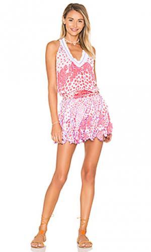 Платье beline Poupette St Barth. Цвет: розовый