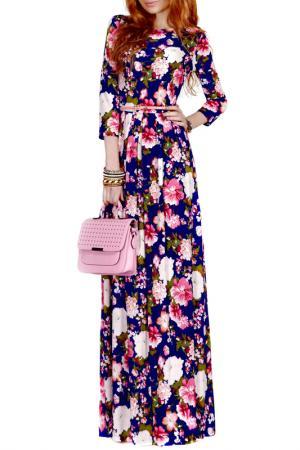 Платье FRANCESCA LUCINI. Цвет: белый, розовый, магнолия