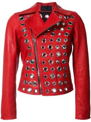 Декорированная куртка Rta. Цвет: красный