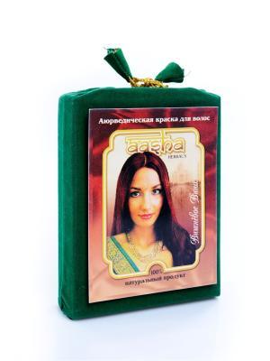 Краска для волос натуральная аюрведическая Вишневое вино Aasha Herbals. Цвет: темно-бордовый
