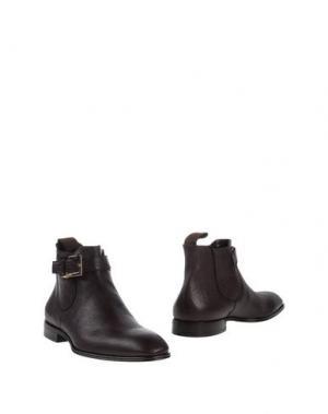 Полусапоги и высокие ботинки CESARE PACIOTTI. Цвет: баклажанный