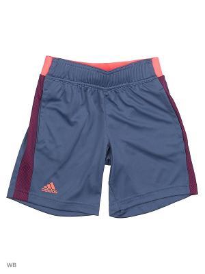 Шорты дет. спорт. B BAR. SHORT  TECINK/FLARED Adidas. Цвет: серый, фиолетовый, фуксия