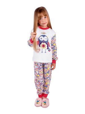 Пижама Апрель. Цвет: белый, синий, малиновый