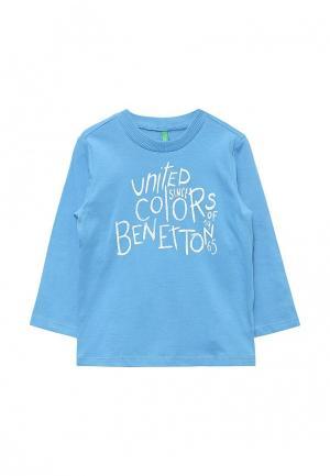 Лонгслив United Colors of Benetton. Цвет: голубой