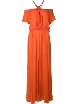 Вечернее платье Jay Ahr. Цвет: жёлтый и оранжевый