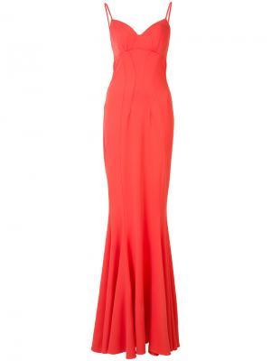 Облегающее вечернее платье Zac Posen. Цвет: розовый и фиолетовый