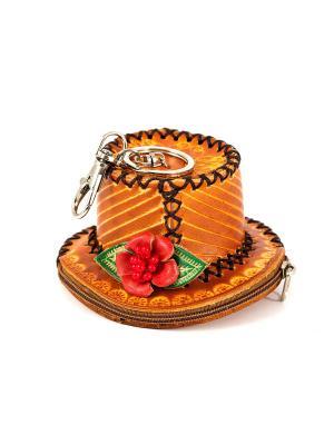 Брелок-ключница Шляпка Русские подарки. Цвет: рыжий