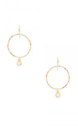 Серьги-кольца viv Mimi & Lu. Цвет: металлический золотой