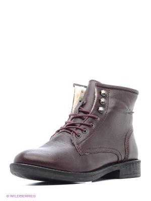 Ботинки VelVet. Цвет: бордовый