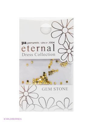 Стразы-камушки для ногтевого дизайна Золото 1,5мм ETERNAL Dress Collection Gem Stone Gold PA presents since 2004. Цвет: серебристый