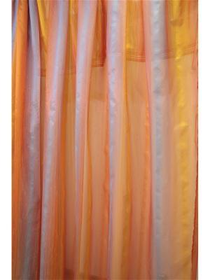 Тюль Naturel. Цвет: оранжевый, зеленый