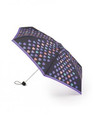 Зонт механический Веселые сердечки Henry Backer. Цвет: черный