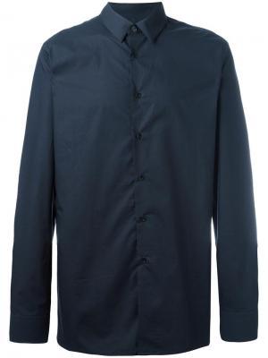 Классическая рубашка Raf Simons. Цвет: синий