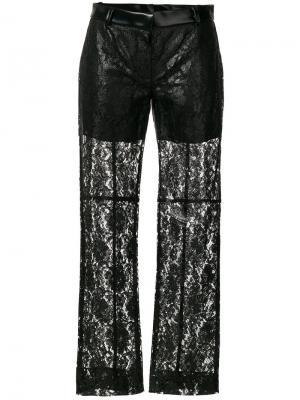 Прозрачные кружевные брюки Philosophy Di Lorenzo Serafini. Цвет: чёрный